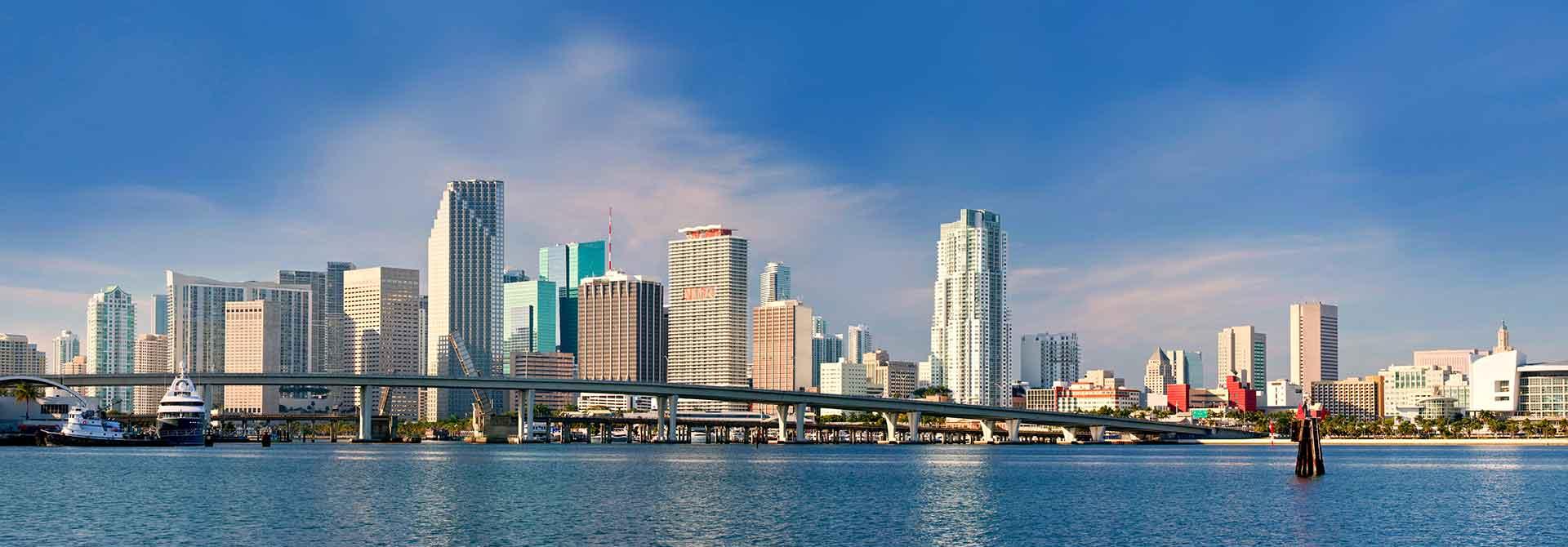 City skyline in Florida